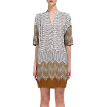 Buy Whistles Luna Aztec Print Dress, Gold/Multi Online at johnlewis.com