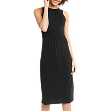 Buy Oasis Grecian Midi Dress, Black Online at johnlewis.com