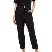 Buy Jaeger Airtex Jogger Trousers, Black Online at johnlewis.com