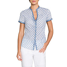 Buy East Anokhi Shirin Booti Blouse, White/Blue Online at johnlewis.com