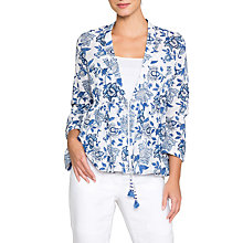 Buy East Anokhi Shirin Print Jacket, Ocean Online at johnlewis.com