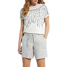 Buy White Stuff Anna Linen Shorts, Dove Grey Online at johnlewis.com
