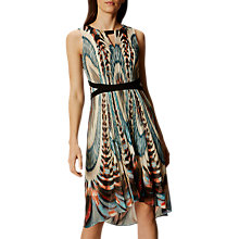 Buy Karen Millen Print Dip Hem Dress, Multi Online at johnlewis.com