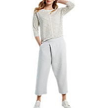 Buy White Stuff Wrap Front Linen Crop Trousers, Grey Online at johnlewis.com