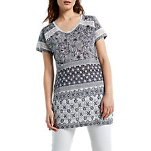 Buy White Stuff Camilla Linen Jersey Tunic Top, Grey Online at johnlewis.com