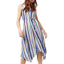 Buy Warehouse Dash Stripe Hanky Hem Dress, Multi Online at johnlewis.com