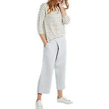 Buy White Stuff Shimmer Stripe T-shirt, Slate Grey Online at johnlewis.com