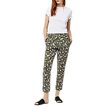 Buy Warehouse Mae Floral Trousers, Multi Online at johnlewis.com
