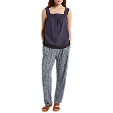 Buy White Stuff Katie Printed Trousers, Navy Online at johnlewis.com