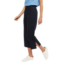 Buy Jaeger Linen Cropped Trousers, Navy Online at johnlewis.com