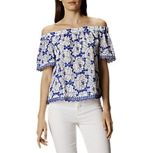 Buy Karen Millen Scalloped Bardot Top Online at johnlewis.com