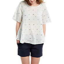 Buy White Stuff Sadie Spot Top, Chalk White Online at johnlewis.com