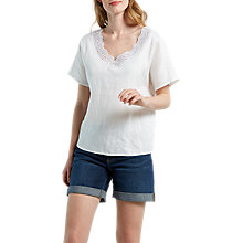 Buy White Stuff Connie Linen Top, White Online at johnlewis.com