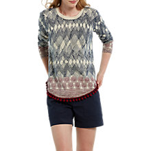 Buy White Stuff Stencil Jumper, Navy Online at johnlewis.com