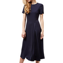 Buy Jaeger Contrast Godet Dress, Navy Online at johnlewis.com