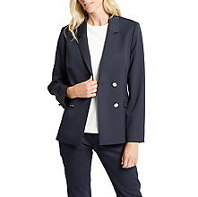 Buy Jaeger Button Wool Blazer, Navy Online at johnlewis.com
