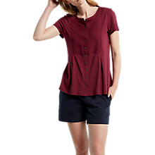 Buy White Stuff Katie Jersey Shirt, Desert Red Online at johnlewis.com