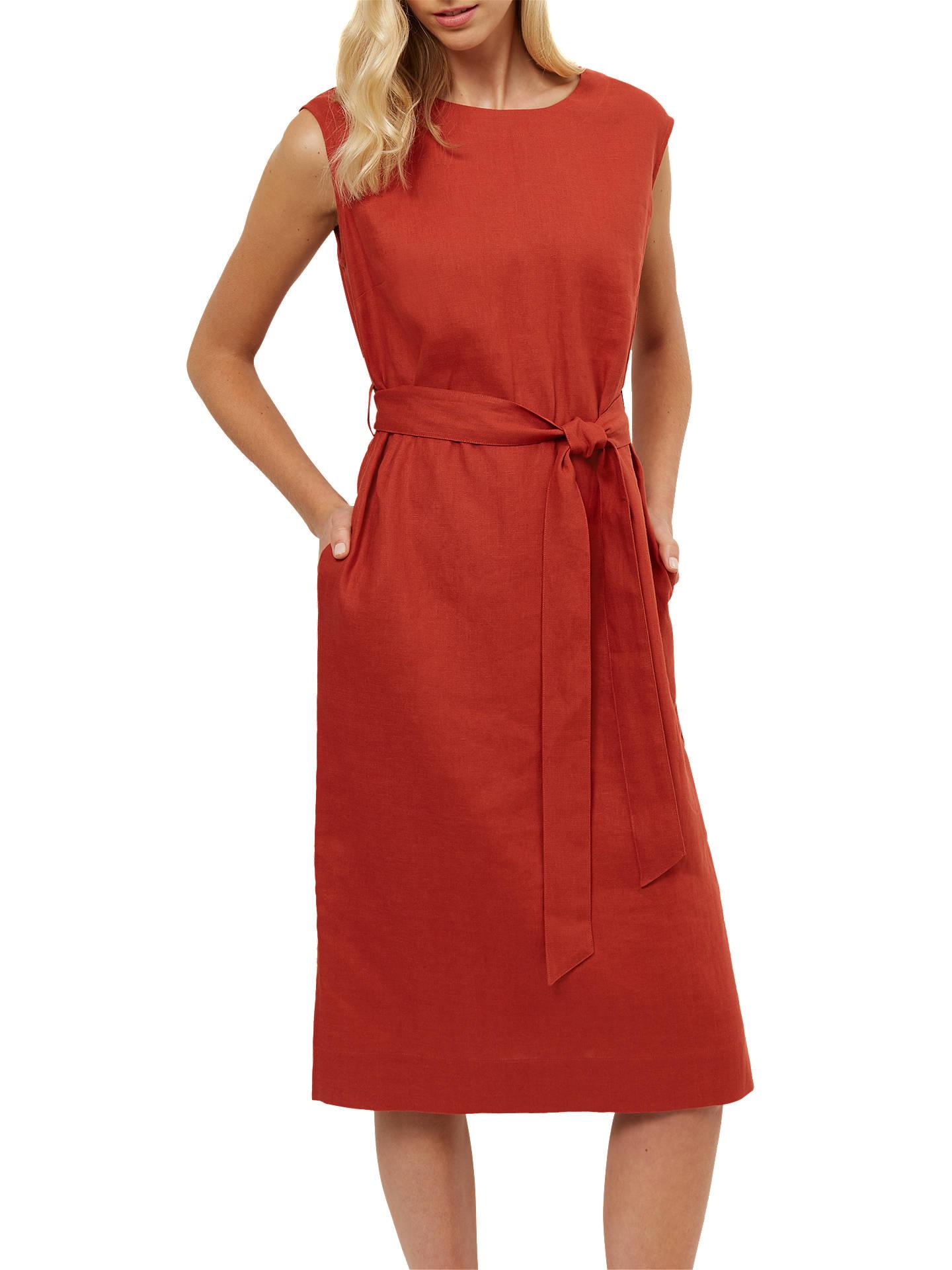 21a0de124d9 BuyJaeger Linen Belted Midi Dress