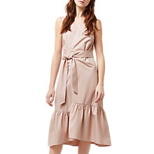 Buy Warehouse Peplum Hem Wrap Dress, Light Pink Online at johnlewis.com