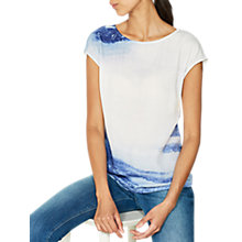 Buy Mint Velvet Storm Print T-Shirt, Blue/White Online at johnlewis.com