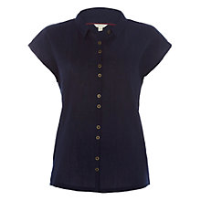 Buy White Stuff Carla Crinkle Jersey Shirt, Navy Online at johnlewis.com