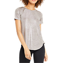 Buy Oasis Foil Marl T-Shirt, Tan Online at johnlewis.com