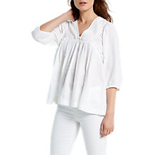 Buy White Stuff Bea Boho Top, White Online at johnlewis.com