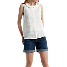 Buy White Stuff Broderie Shirt Vest, Chalk Online at johnlewis.com