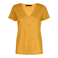Buy Jaeger Linen Chevron T-Shirt Online at johnlewis.com