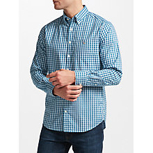 Buy Gant Heather Oxford Gingham Shirt, Ink Blue Online at johnlewis.com