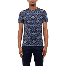 Buy Ted Baker Glenif Paisley T-Shirt, Navy Online at johnlewis.com