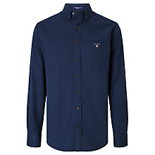 Buy Gant American Long Sleeve Shirt, Navy Online at johnlewis.com