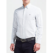 Buy Gant Printed Broadcloth Dot Shirt, White Online at johnlewis.com