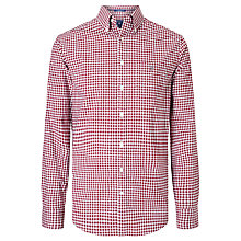 Buy Gant Long Sleeve Poplin Gingham Shirt, Burgundy Online at johnlewis.com