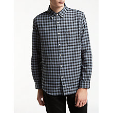 Buy Edwin Standard Checked Cotton Shirt, Grey Vichy Online at johnlewis.com