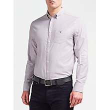 Buy Gant Stretch Oxford Stripe Shirt Online at johnlewis.com