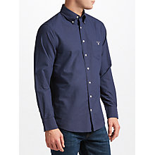 Buy Gant Printed Oxford Dot Shirt, Navy Online at johnlewis.com