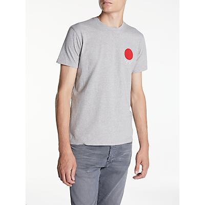 Edwin Red Dot Short Sleeve T-Shirt, Grey Marl