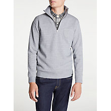 Buy Edwin Warm Up Popover Jumper, Mouline Grey Online at johnlewis.com
