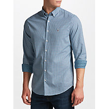 Buy Gant Tech Prep Twill Check Shirt, Teal Online at johnlewis.com