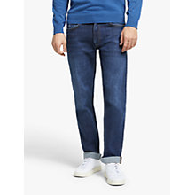 Buy GANT Regular Straight Jeans, Dark Blue Rinse Online at johnlewis.com