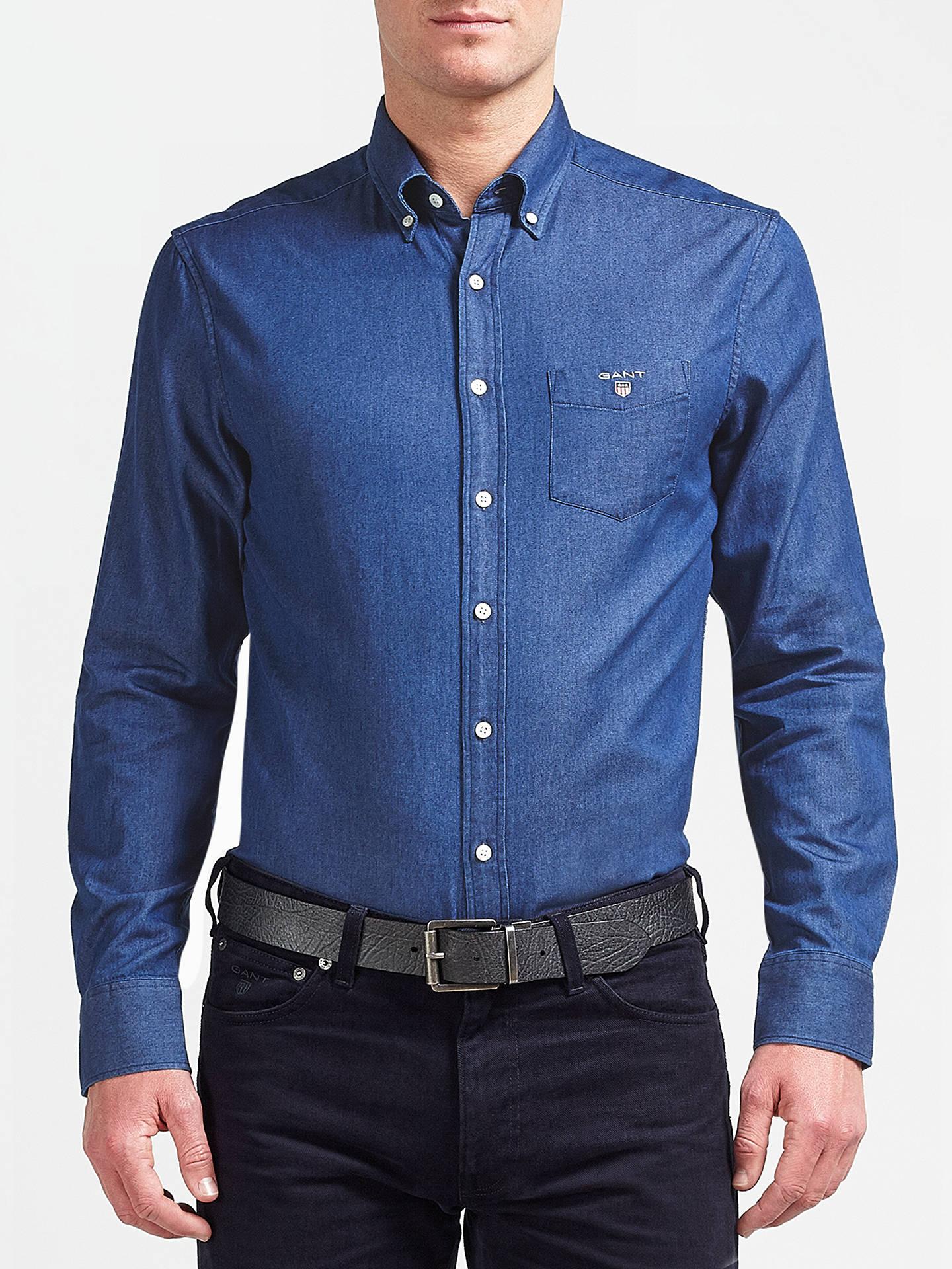 243c52aee7a Buy Gant Indigo Long Sleeve Shirt