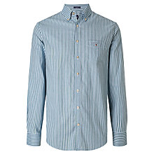 Buy Gant Heather Oxford Stripe Shirt, Ivy Green Online at johnlewis.com