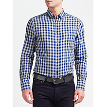 Buy Gant Nordic Plaid Gingham Shirt, Yale Blue Online at johnlewis.com