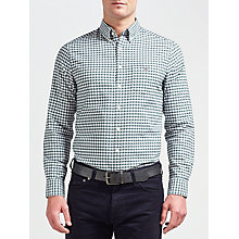 Buy Gant Oxford Gingham Long Sleeve Shirt, Tartan Green Online at johnlewis.com