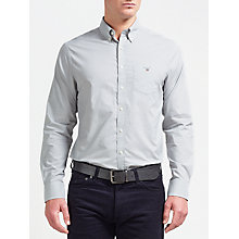 Buy Gant Broadcloth Shirt, Grey Online at johnlewis.com