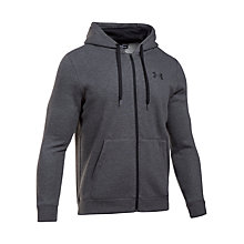 Buy Under Armour Rival Fitted Graphic Hoodie, Grey Online at johnlewis.com