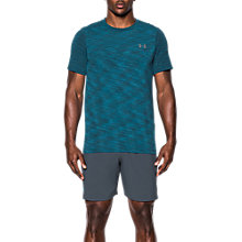 Buy Under Armour Threadborne Seamless T-Shirt, Blue Online at johnlewis.com