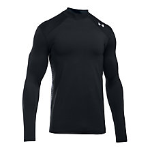Buy Under Armour ColdGear Reactor Long Sleeve Top, Black Online at johnlewis.com