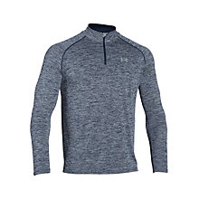Buy Under Armour Tech 1/4 Zip Long Sleeve Top, Grey/Blue Online at johnlewis.com
